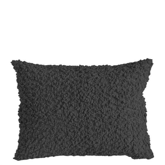 Cotton Boucle Charcoal Rectangular Cushion