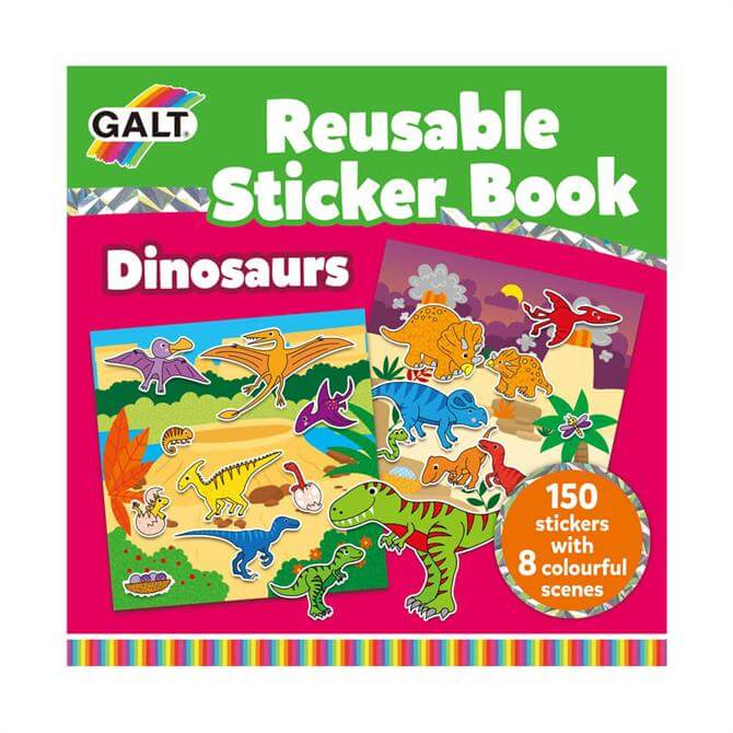 Galt Reusable Sticker Book Dinosaur