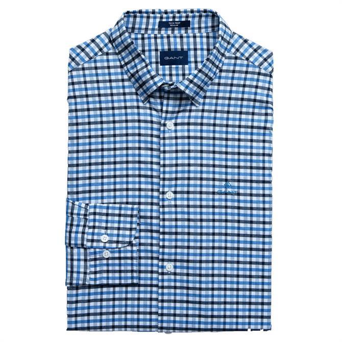 GANT Regular Fit Tech Prep Jaspé Gingham Oxford Shirt