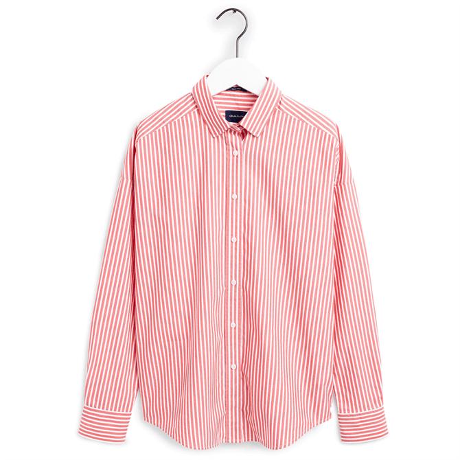 GANT Oversized Tech Prep Stripe Broadcloth Shirt