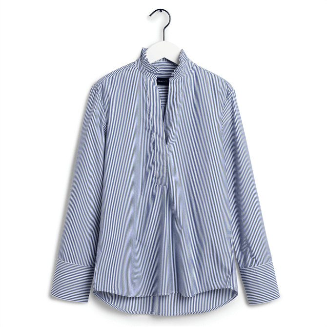 GANT Tech Prep Stripe Frill Broadcloth Shirt