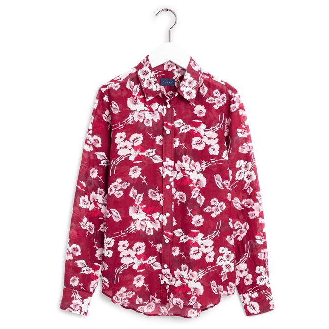 GANT Fall Blues Cotton Silk Shirt
