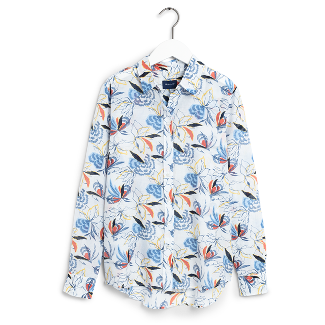 GANT Floral Fly Fishing Cotton Silk Shirt