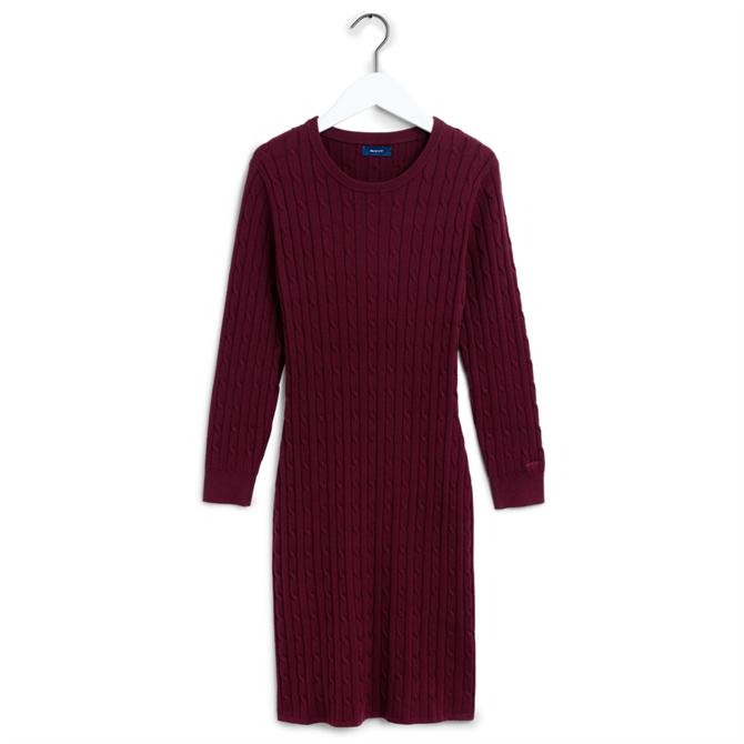 GANT Stretch Cotton Cable Dress