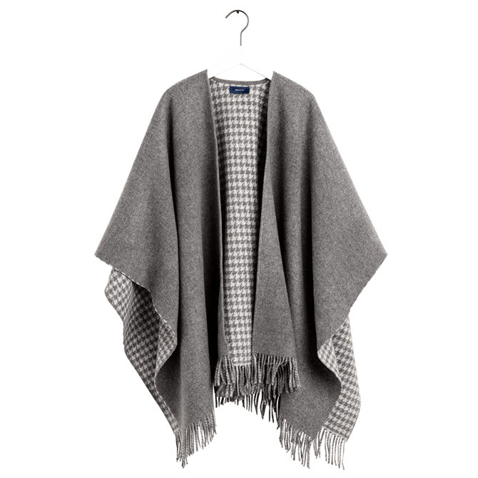 GANT Solid & Houndstooth Poncho