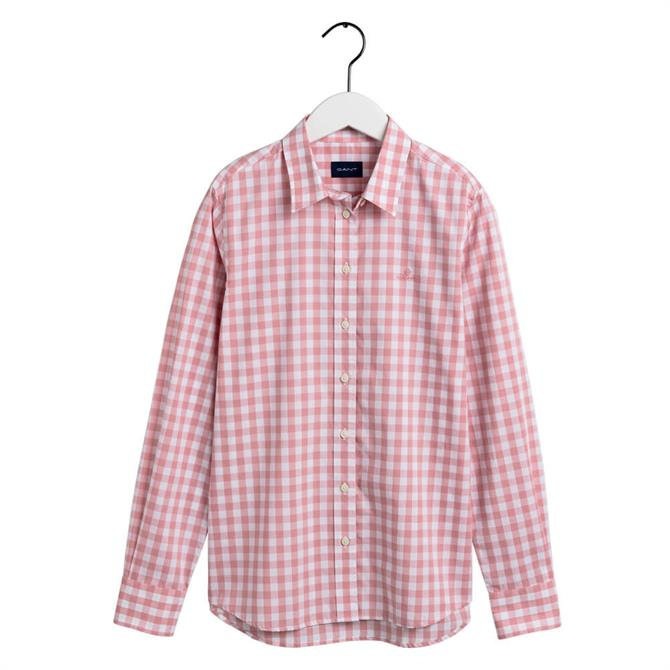 GANT Cotton Broadcloth Gingham Shirt