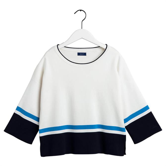 GANT Colour Block Crewneck Jumper