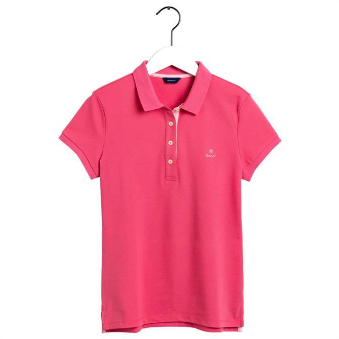 GANT Contrast Collar Pique Polo Shirt SS20