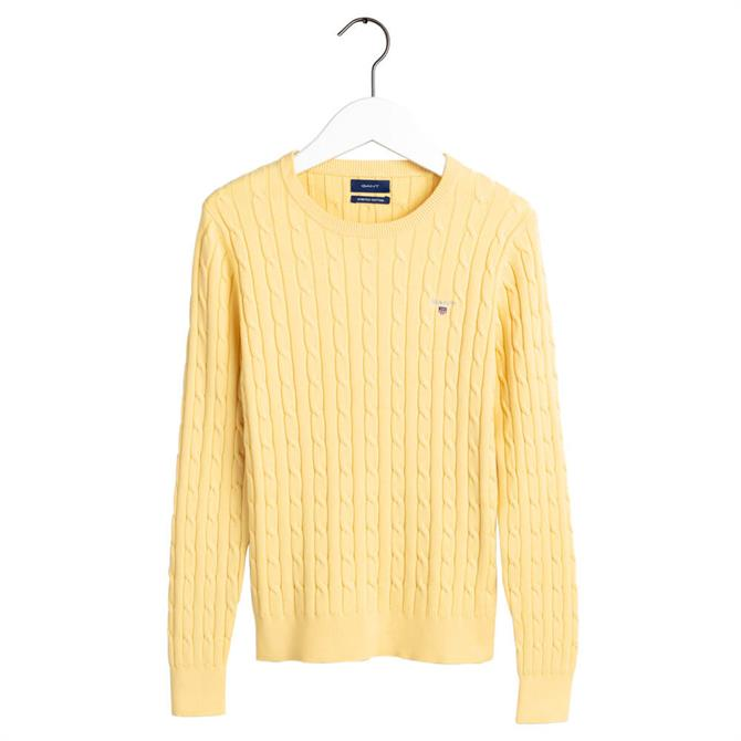 GANT Cotton Cable Knit Slim Sweater