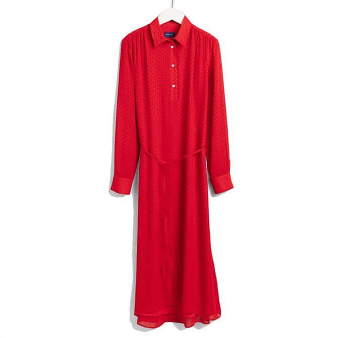 GANT Fairly Dot Chiffon Dress