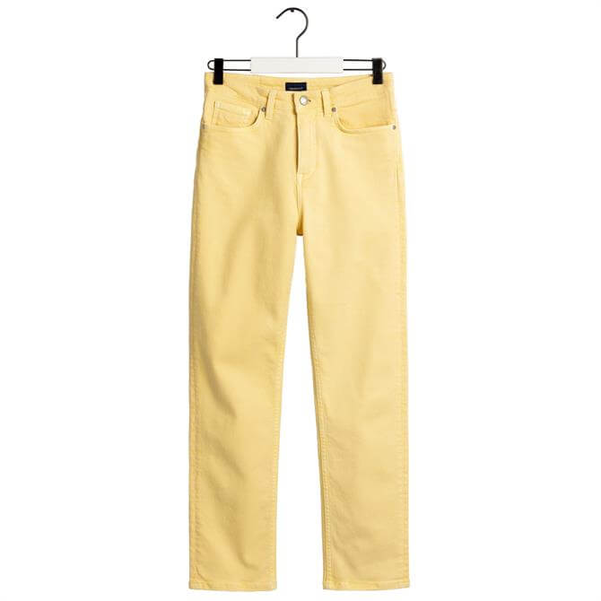 GANT High Waisted Slim Fit Cropped Colour Jeans