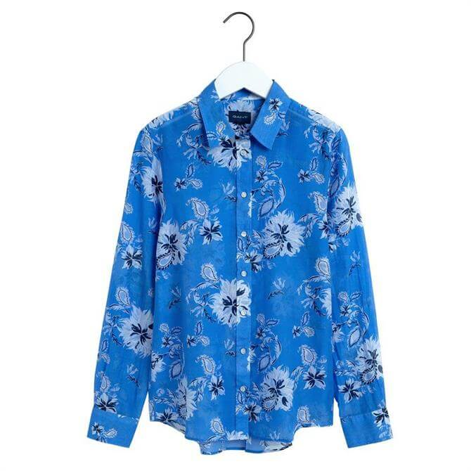 GANT Marine Paisley Cotton Silk Shirt