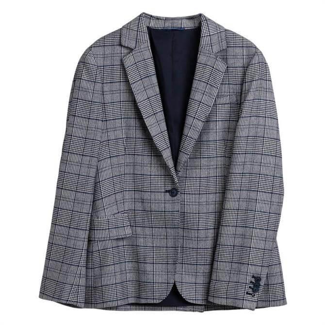 GANT Regular Fit Check Flannel Blazer