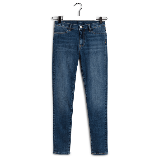 GANT Skinny Fit Indigo Travel Jeans