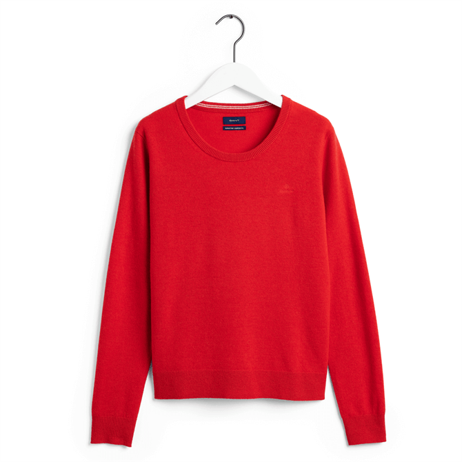GANT Super Fine Lambswool Straight Fit Crew Sweater