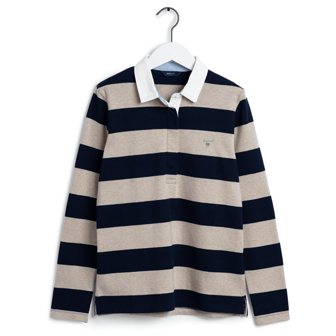 GANT The Original Barstripe Heavy Rugby Shirt