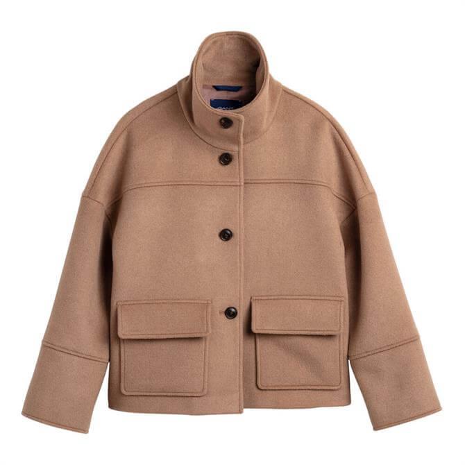 GANT Wool Blend Cropped Jacket