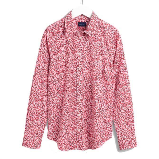 GANT Bouquet Print California Pink Shirt