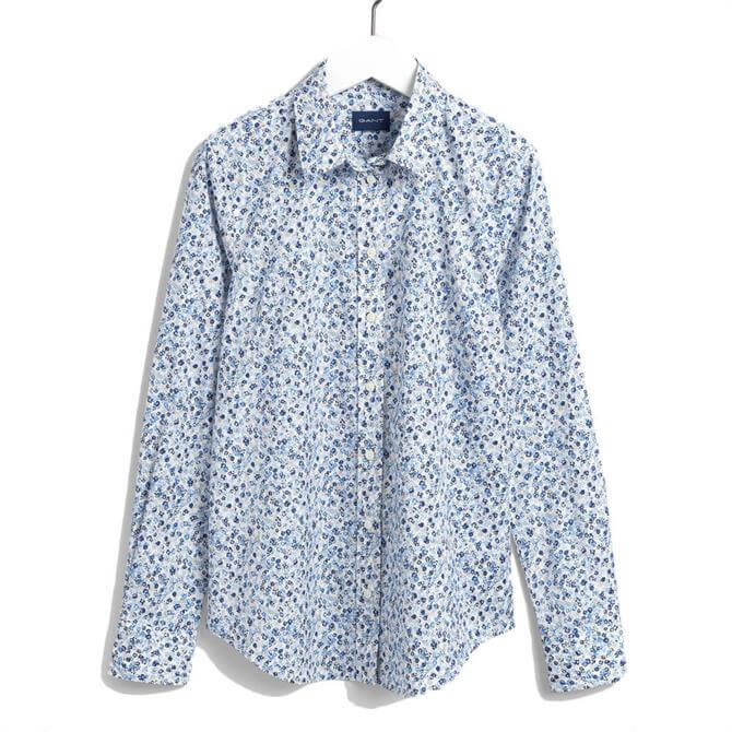 GANT Bouquet Print Eggshell Blue Shirt
