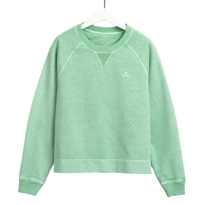 GANT Sunfaded Crew Neck Pastel Green Sweatshirt