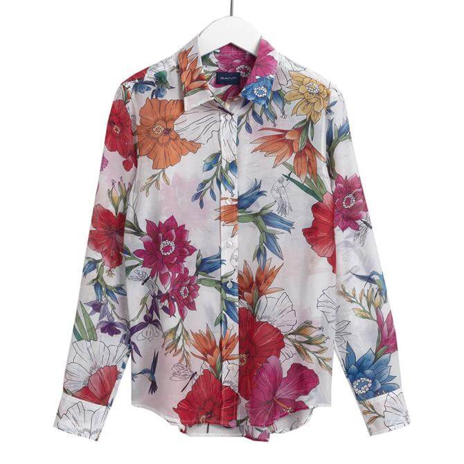 GANT Humming Floral Silk Shirt