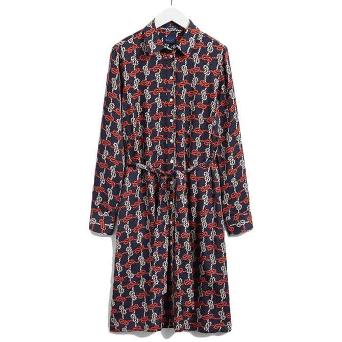 GANT Knot Print Shirt Dress