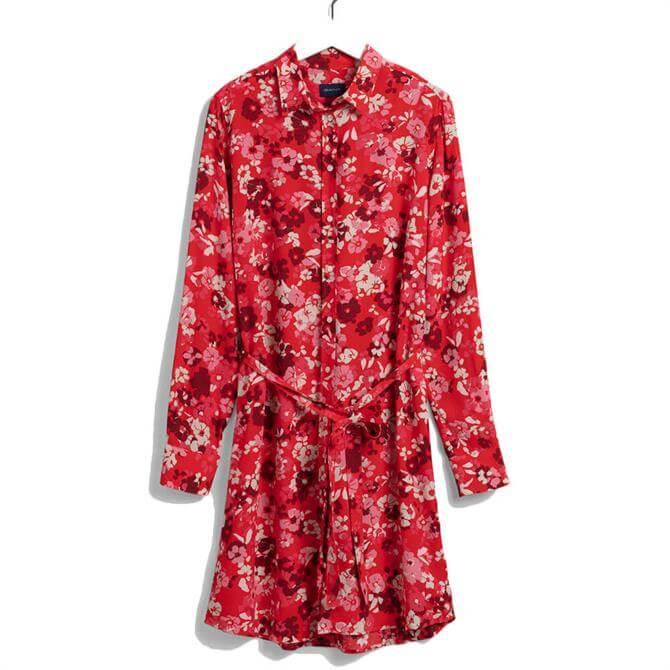 GANT Liberation Bouquet Print Shirt Dress