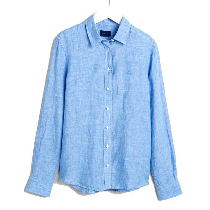 GANT Linen Chambray Long Sleeved Shirt