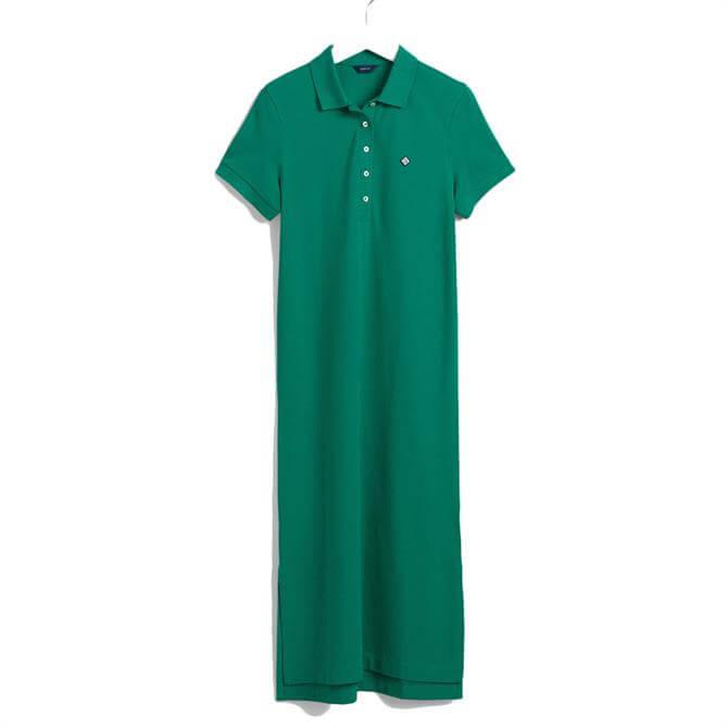 GANT Pique Polo Midi Dress
