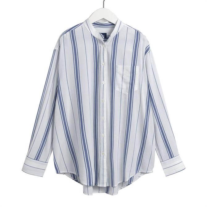 GANT Relaxed Striped Crepe Shirt