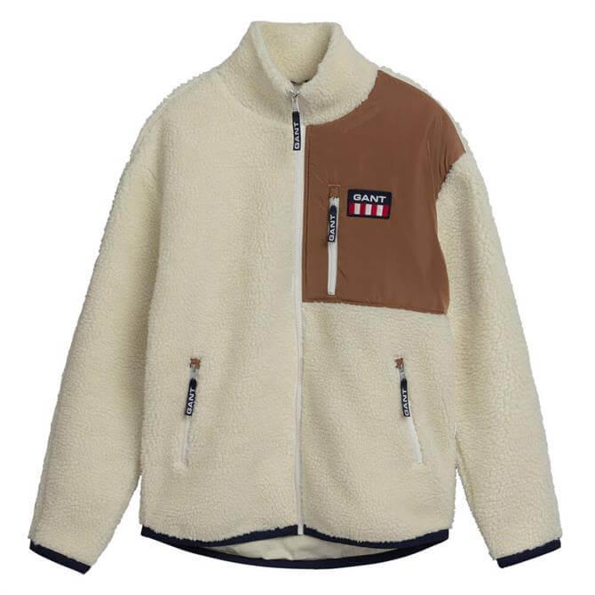 GANT Retro Logo Fleece Jacket