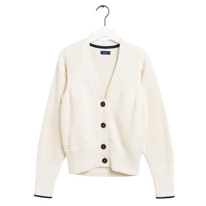GANT Ribbed Buttoned Cardigan