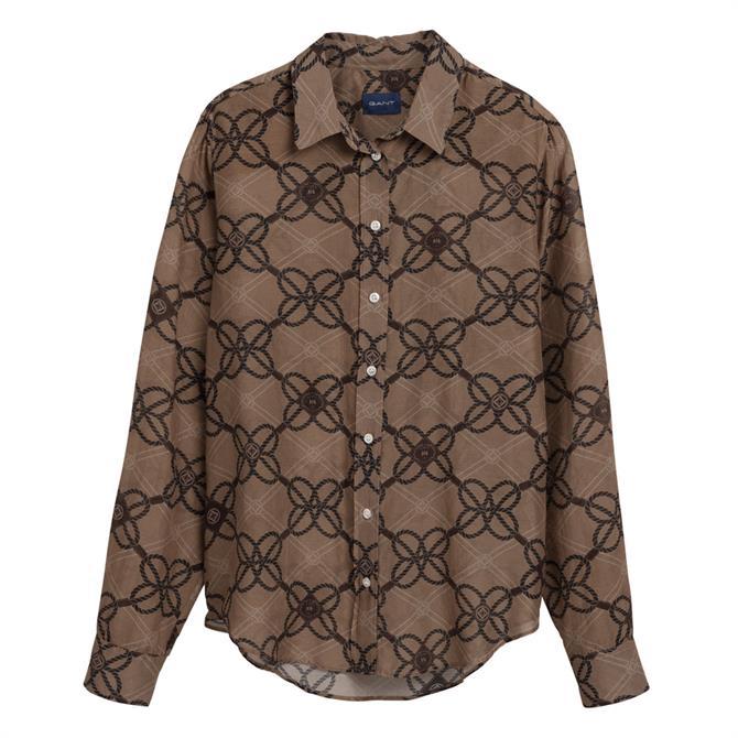 GANT Rope Print Cotton Silk Shirt