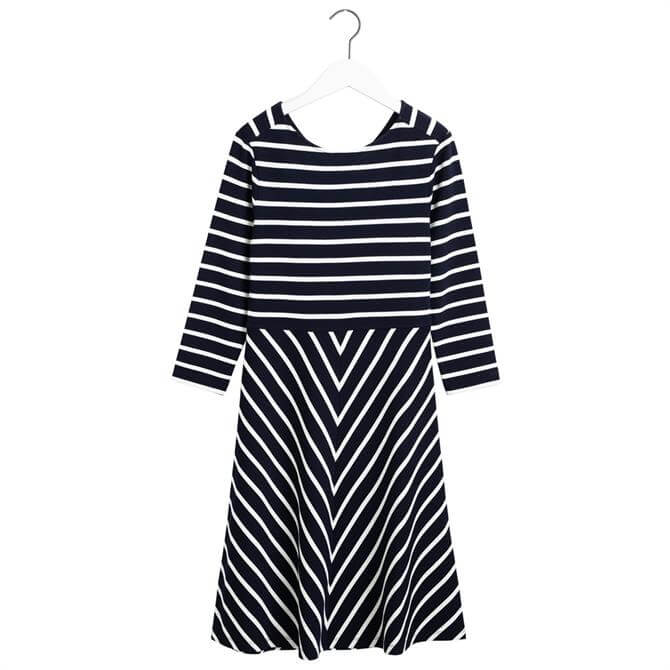 GANT Striped Fit & Flare Dress