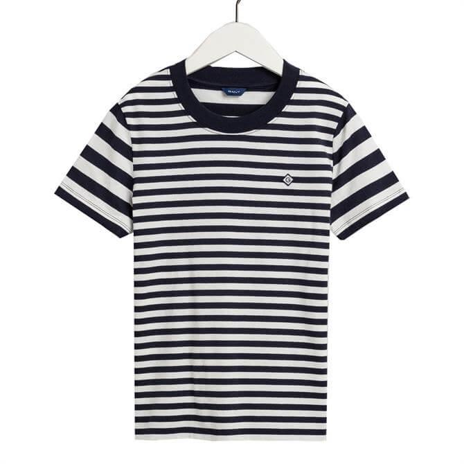 GANT Striped Short Sleeved T-Shirt