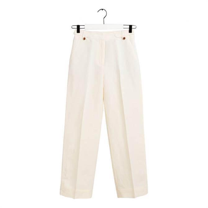 GANT Wide Leg Linen Trouser