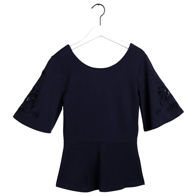 GANT Meadow Embroidery Jersey Top