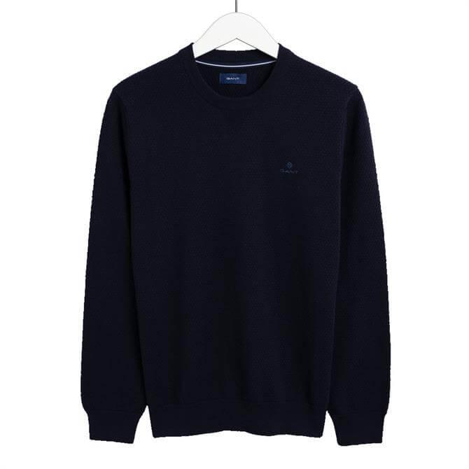 GANT Honeycomb Crew Neck Sweater