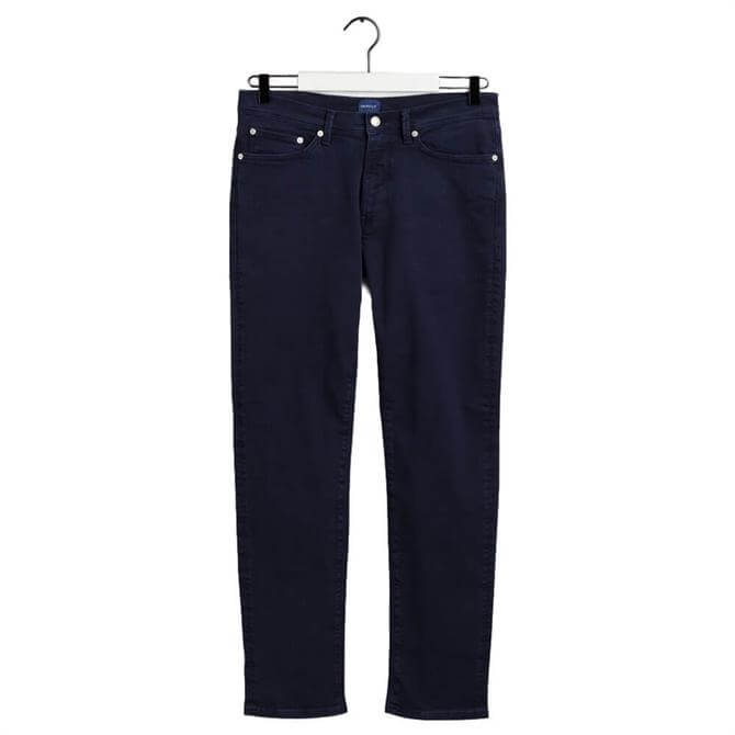 GANT Navy Maxen Extra Slim Fit Active-Recover Jeans