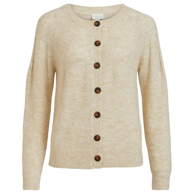 Vila Dua Button Front Knitted Cardigan
