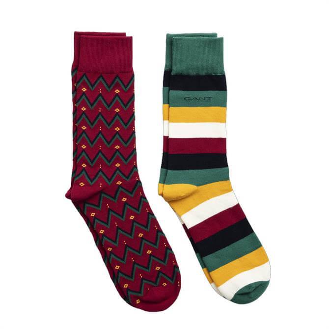 GANT 2 Pack Fair Isle Socks Gift Box