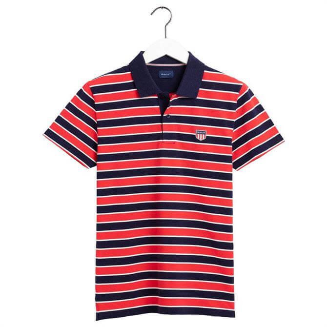 GANT Retro Shield Stripe Polo Shirt