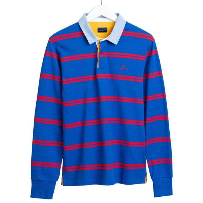 GANT Contrast Duo Stripe Rugby Shirt