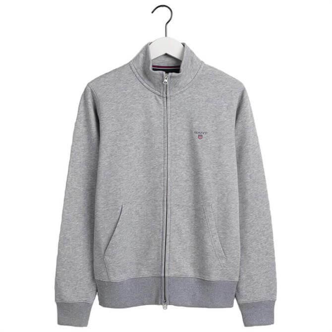 GANT Original Full-Zip Grey Cardigan