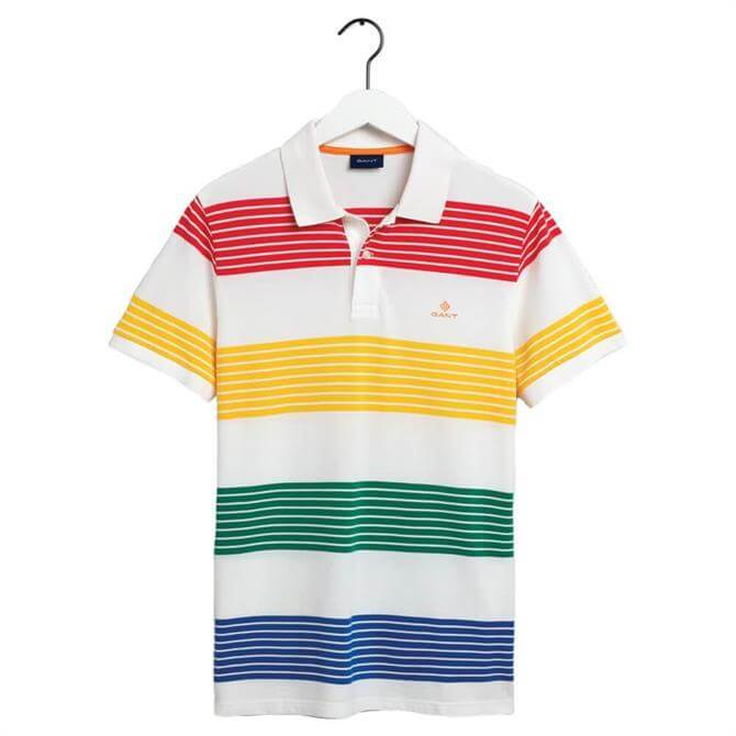GANT Multi Stripe Piqué Rugger Polo Shirt