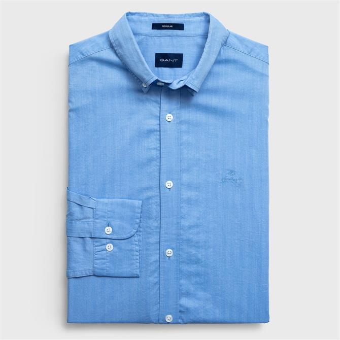 Gant Herringbone Solid Regular Shirt