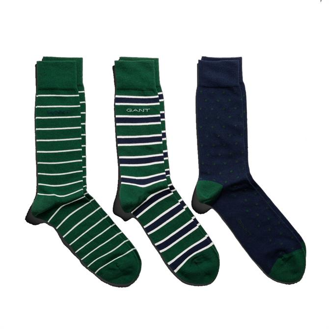 GANT Men's 3 Pack Mixed Socks