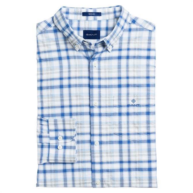 GANT Regular Fit Preppy Plaid Oxford Shirt
