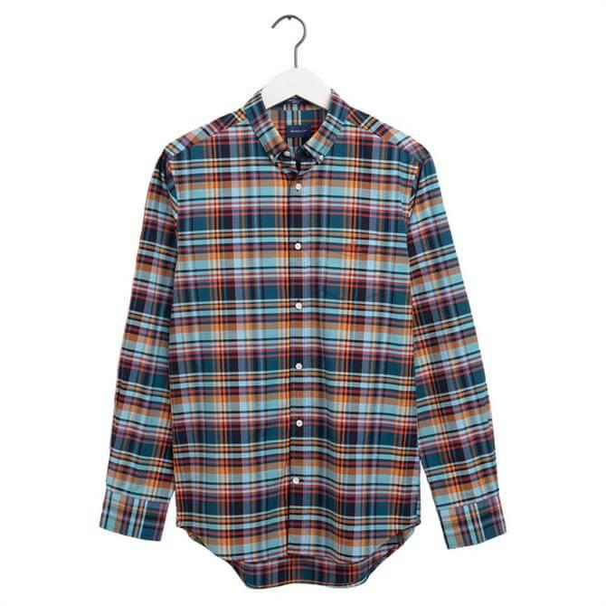 GANT Regular Fit Preppy Oxford Plaid Shirt