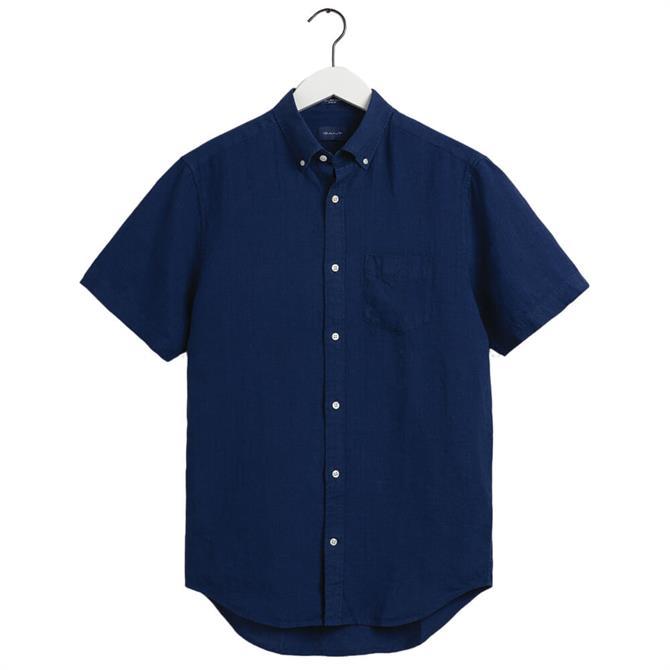 GANT Regular Fit Short Sleeve Linen Shirt